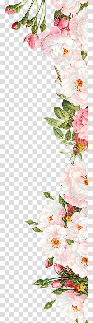 Faire-part de mariage fleurs roses, arrangement de fleurs roses, roses et blanches png