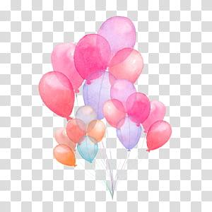 Illustration de ballon aquarelle Illustration, illustration de ballon aquarelle peinte à la main, oeuvre de ballon de couleurs assorties png