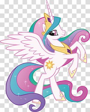 Illustration du personnage de My Little Pony, princesse Celestia Rainbow Dash Twilight Sparkle Rarity, princesse Cadance, mon petit poney png