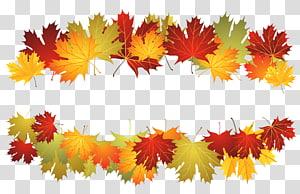 illustration des feuilles rouges et brunes, fichier informatique des Maple Leafs de Toronto, feuille d'automne déco png