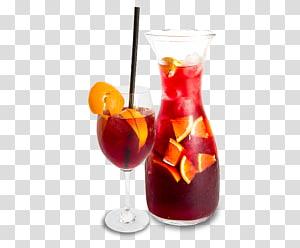 Pichet en verre transparent rempli de jus, Cocktail de vin Sex on the Beach Sangria Sea Breeze, nachos png