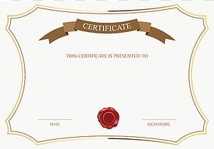 Certificat, modèle Certificat universitaire, modèle de certificat blanc et brun png