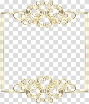 Gold, Gold Border Frame, illustration du cadre doré png