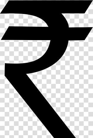 Signe de la roupie indienne, symbole de la roupie png