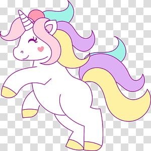 Illustration de licorne de couleurs assorties, Licorne, tête de licorne png