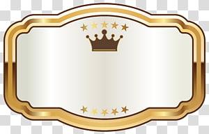 Lanson Black Label Brut Champagne Imprimante blanche Imprimante d'étiquettes, étiquette blanche avec couronne dorée, bordure brune png