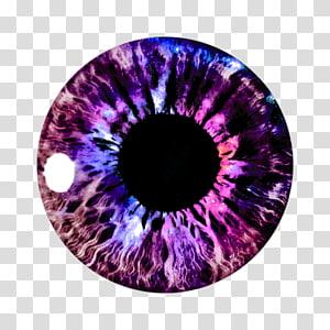 Lentilles de contact violettes, couleur PicsArt Studio, yeux png