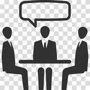 illustration de conversation de trois personnes, entretien d'embauche ordinateur icônes réunion d'affaires, réunion d'affaires, conversation, entretien d'embauche, icône de travail d'équipe png