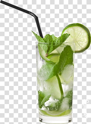limonade en verre clair, jus d'orange cocktail Tequila Sunrise Mojito, limonade png