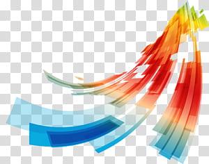 Courbe ligne euclidienne, lignes de courbes géométriques abstraites colorées, peinture abstraite bleue, verte, rouge, orange et jaune png