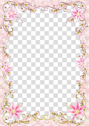 modèle de cadre, ligne de cadre floral floral frontière rose, cadre de fleurs roses png