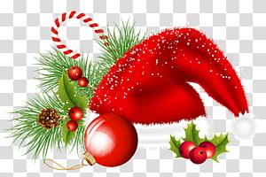 Décoration de Noël Décoration de Noël, décoration de Noël, bonnet de Noel et ornements, chapeau sur le thème de Noël png