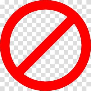Pas de signalisation, Panneau d'arrêt Pas de symbole Panneau d'avertissement Rouge, Bloc png