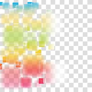 Abstraction euclidienne, matière abstraite de l'élégance fantastique, multicolore png