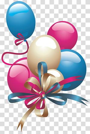 Ballon, ballons, illustration de ballons et rubans png