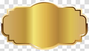 Étiquette de modèle, étiquette d'or Modèle, emblème d'or png
