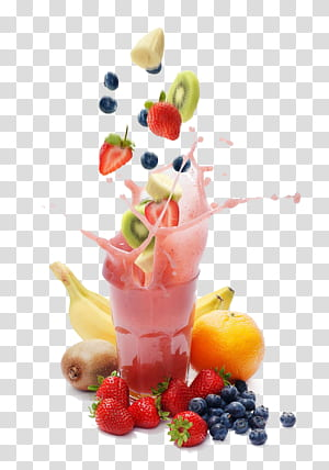 Smoothie Milkshake Shake Santé Perte de poids Régime amaigrissant, jus de fruits, fraises et baies noires png