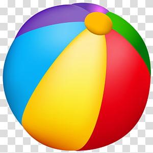 Ballon de plage, ballon de plage, illustration de ballon de plage multicolore png