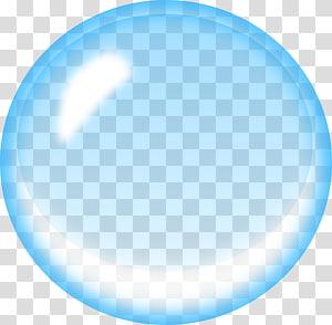 Bulle de savon bleu, bulle d'eau, bulle bleue png