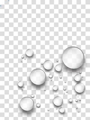 Goutte d'eau, gouttes d'eau fines gouttes, art des bulles blanches png