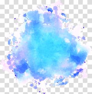 Peinture Pinkpop Festival Aquarelle Texture, graffiti aquarelle bleu ciel, abstrait illustratrion png
