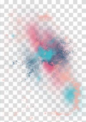 Light, élément effet de lumière Fantasy Star, peinture abstraite multicolore png