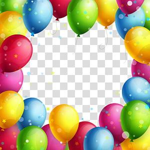 Cadre de ballon, Cadre de ballons, ballons de couleurs assorties png