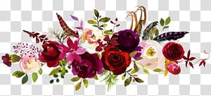 Faire-part de mariage Réservez le bouquet de fleurs de date, pivoines aquarelles, fleurs blanches, rouges et violettes png