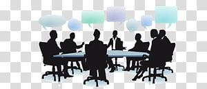 groupe, gens, séance, illustration, dialogue, social, organisation, gestion, affaires, gens affaires, réunion, silhouette png