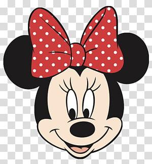 Visage de Minnie Mouse Mickey Mouse, Visage de Minnie Mouse noir, illustration de Minnie Mouse png
