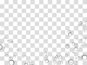 PicsArt Studio Édition, bulles, illustration de bulles en noir et blanc png