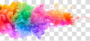 Aquarelle Peinture acrylique, encre énergique et colorée, fumée multicolore png