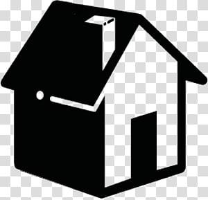 silhouette de maison, ordinateur icônes accueil symbole, véritable page d'accueil icône png