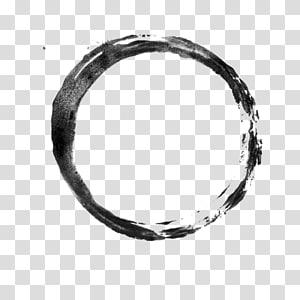 Fichier informatique pinceau, cercle d'encre traits noirs png